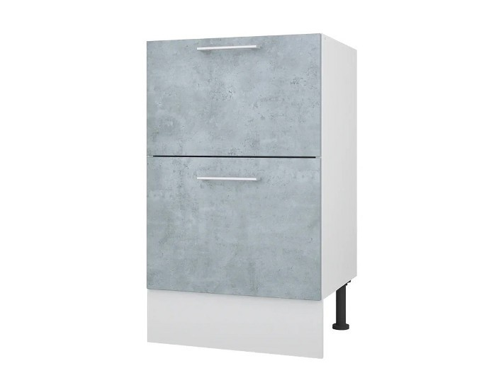 Кухонный шкаф 50 с 2 ящиками Лофт без столешницы
