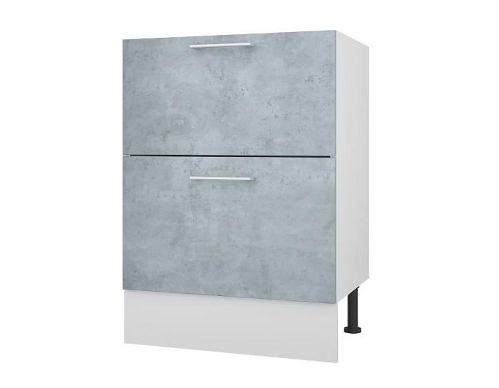 Кухонный шкаф 60 с 2 ящиками Лофт без столешницы