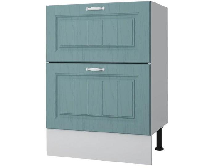 Кухонный шкаф 60 с 2 ящиками Принцесса без столешницы