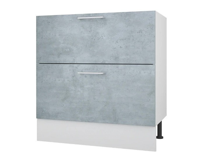 Кухонный шкаф 80 с 2 ящиками Лофт без столешницы