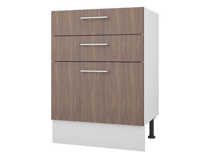 Кухонный шкаф 60 с 3 ящиками Европа без столешницы