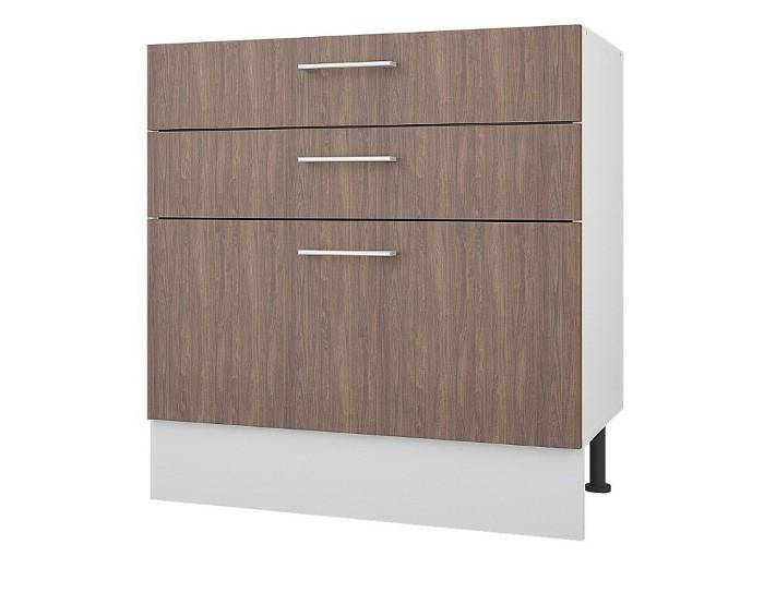 Кухонный шкаф 80 с 3 ящиками Европа без столешницы