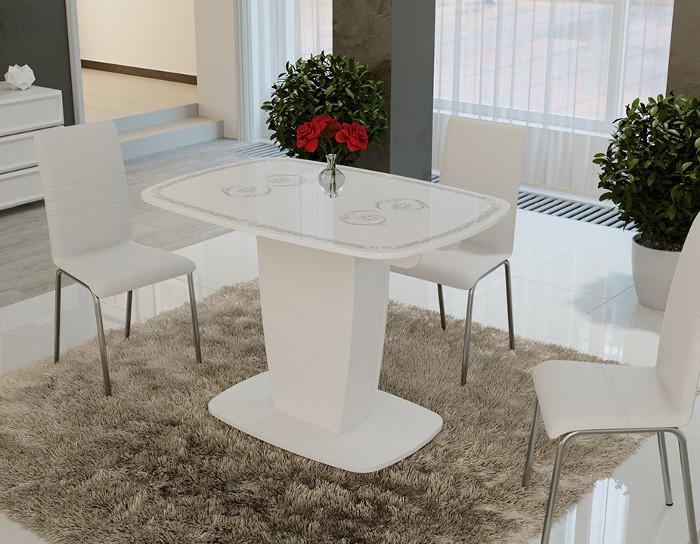 Стол обеденный раскладной Аризона тип 2 серебро