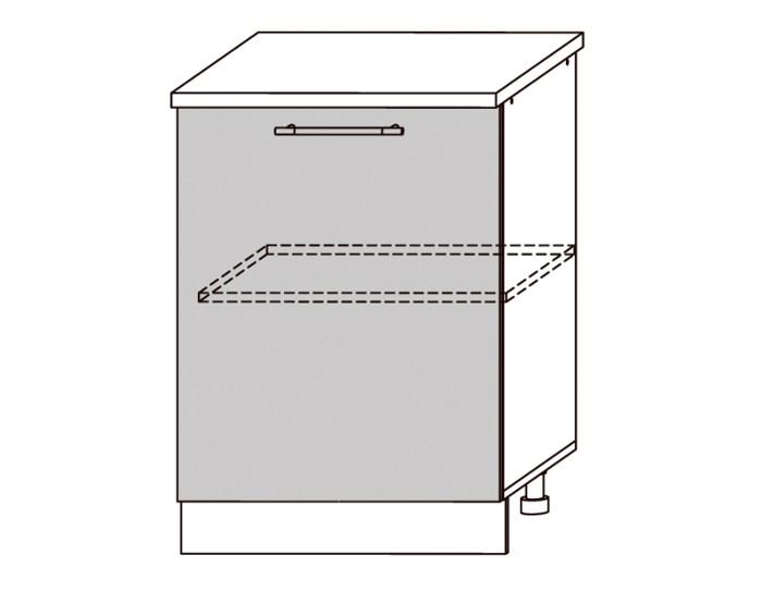 Кухонный шкаф Мокко ШН600 однодверный без столешницы