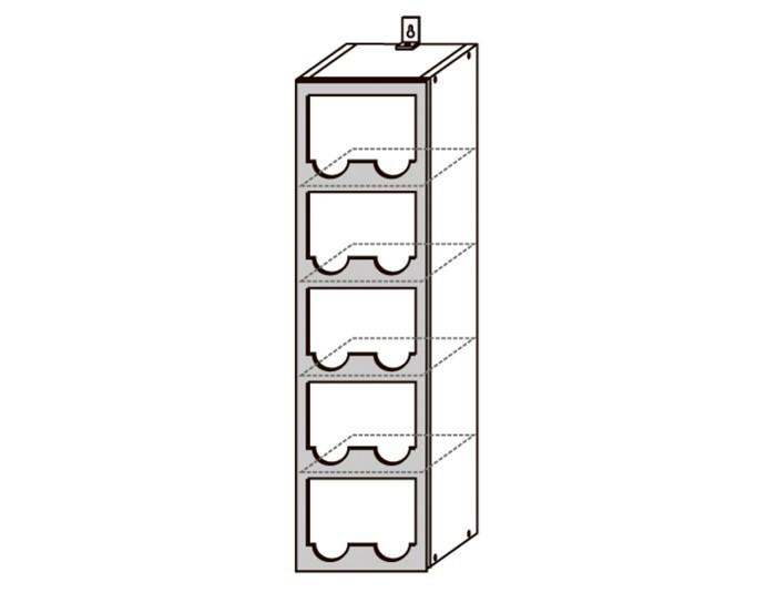 Кухонный шкаф Верона ШВБУ200-5