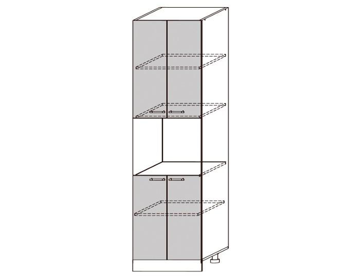 Кухонный шкаф-пенал Бруклин ШВПД600
